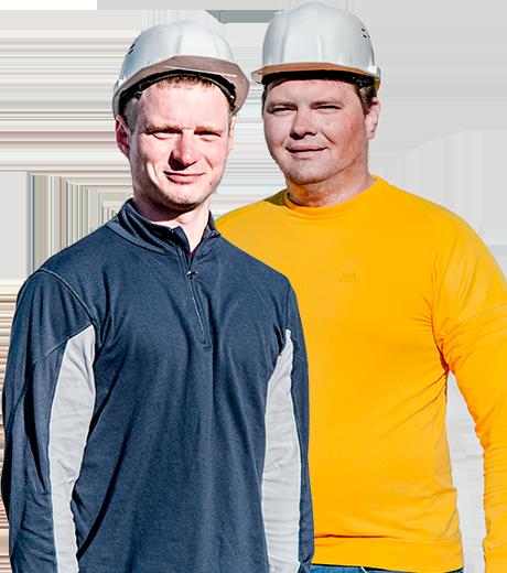 Виталий и Евгений - специалисты по бурению!